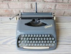 vintage CONSUL portable manual typewriter working by carouselandfolk, $225.00