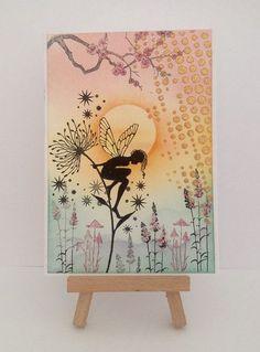 Fantasy card/ Fairy/handmade/Any occasion/ Birthday by Funnygoblin