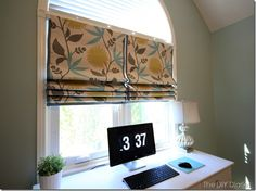 Just might attempt sewing my own roman shades for the baby's room