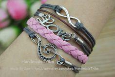 Music notation Bracelet LOVE Bracelet Infinity by HandmadeTribe, $4.00 Beautiful handmade bracelets Christmas gift