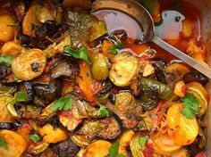 Briam (Greek Baked Vegetables).  One of my favorite dishes