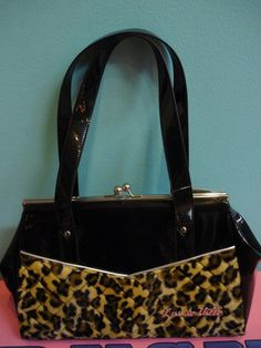 Leopard print rockabilly purse