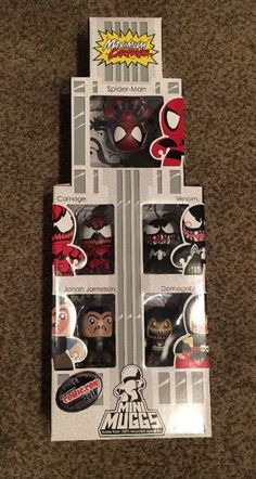 MARVEL SPIDERMAN MINI MIGHTY MUGGS MAXIMUM CARNAGE 5 PACK NYC COMIC CON - http://hobbies-toys.goshoppins.com/action-figures/marvel-spiderman-mini-mighty-muggs-maximum-carnage-5-pack-nyc-comic-con/