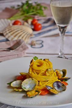 spag vongole zafferano Polenta, Ravioli, Gnocchi, Finger Foods, Italian Recipes, Love Food, Yummy Food, Delicious Recipes, Spaghetti