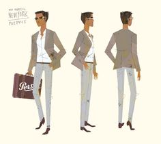 Mr. Persol character design by Kevin Dart