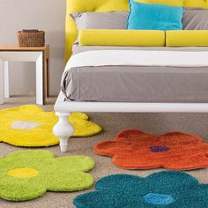 Flower rug Daisy by Sitap / Italian / colourful rugs/ carpets/