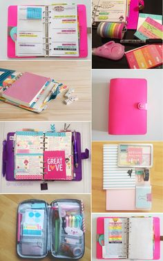 http://www.nadiavdmescht.co.za/2013/07/filofax-love.html  Oh my gosh...FILOFAX stuff!!! Look at those bright colors! And all the extra doodads in the pages. Must...not...want!!!