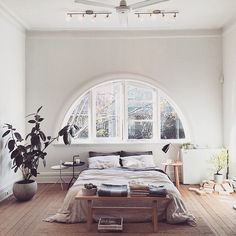 Arched Windows Bedroom