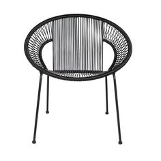 Cocktail Chair In Black. This stylish cocktail chair is perfect for lounging in on a sunny day. Absolutely brilliant for the garden or the patio but just as gre Metal Garden Furniture, Unique Furniture, Luxury Furniture, Outdoor Furniture, Outdoor Lounge, Outdoor Chairs, Sun Chair, Black Dining Chairs, Cocktail Chair