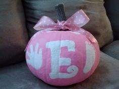 Mommy and Things: Baby's First Painted Pumpkin
