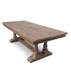Vintage Mill Werks, Our Oxford Baluster Table is produced of Old Growth Douglas Fir and made by hand.  Shown in our Limed Wax Mocha Finish