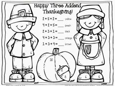 4572 Best Thanksgiving Math Ideas Images On Pinterest In 2018 Fun - Turkey-math-coloring-pages