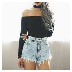 Off Shoulder Choker Crop Top