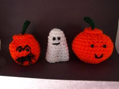 Amigurumi Ghost and Friends - I did these once and dh confiscated my pumpkin