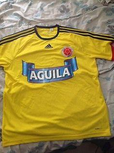 967f31d52 Rare Adidas Colombia 04 11 Yellow Soccer futbol Jersey Size L Mens