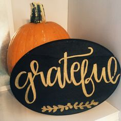 The Gathered Life Shop: Grateful wood oval!  Check us out on Facebook!