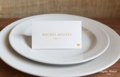 Script Food Icon Food Choice Indication Wedding Custom Customize Place Cards Gold Simple Elegant Nam