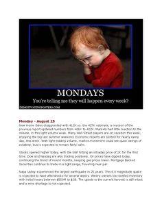 Monday's Market News www.equitysourcemortgage.com