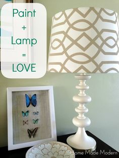Spray Paint + Lamps = LOVE - Home Made Modern