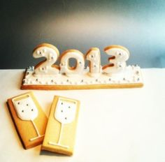 New Year #cookie centrepiece idea. #food #newyear http://suiteweeks.com