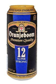Cerveja Oranjeboom 12 Super Strong, estilo Malt Liquor, produzida por United Dutch Breweries, Holanda. 12% ABV de álcool.