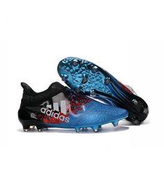 Acheter Homme - Adidas X 16+ Purechaos FG/AG Crampons Bleu Noir Rouge Blanc pas cher en ligne 100,00€ sur http://cramponsdefootdiscount.com