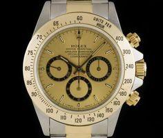 Rolex Zenith Movement Daytona Stainless Steel & 18k Yellow Gold Champagne Dial 16523