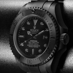Bamford Watch Department – Customised Luxury Watches – Black Rolex MGTC – Rolex Deepsea 'Predator'