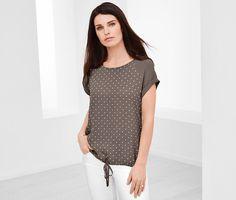 Tričko s tkaným dielom 345754 z e-shopu Tchibo.sk