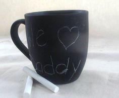 Coffee Mug Cup Chalk Board Message Ceramic Secretary's by earthluv, $12.00