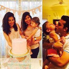 Syra and Shahroz Sabzwari Celebrated Nooreh 2nd Birthday