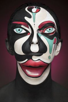 Russian artist photographs stunning and bold face paints