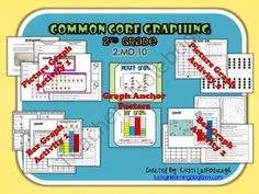 Common Core Graphs- 2nd Grade 2.MD.10 from Lucky In Learning on TeachersNotebook.com (19 pages)  - Common Core Graphs for 2nd Grade- 2.MD.10  Picture and Bar Graphs Hands-On Activities