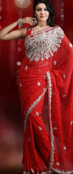 red saree http://saree-angel.blogspot.com
