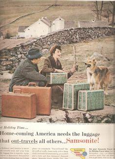 Samsonite Luggage Advertisement, 1957
