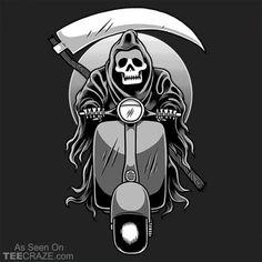 Scooter Reaper T-Shirt  #TeeCraze #reaper