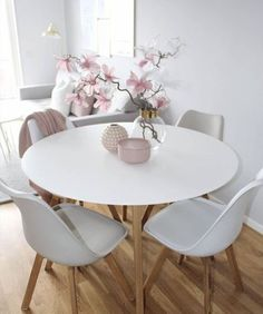 Of our favourite millennial pink home decor picks 33 – Home Design Dining Room Sets, Dining Room Design, Dining Room Table, Living Room Interior, Living Room Decor, Pink Home Decor, Interior Design, Simple Lines, Clearance Websites