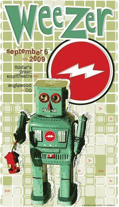Weezer concert poster artwork. #gigposters #music #musicart #weezer http://www.pinterest.com/TheHitman14/music-poster-art-%2B/
