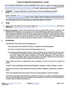 14 Best Lease Agreement Images Rental Agreement Templates