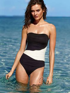 Secret by Victoria's Secret Swim |  NEW! Bandeau One-piece #secretbyVSswim #onepiece #swimsuit