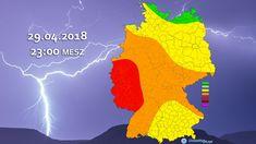 """+++ Unwetter: Tief """"Quitta"""" bringt heftige Gewitter! +++  Am Sonntag, 29. April, steht durch Tief """"Quitta"""" eine Unwetterlage in Form von heftigen Gewittern an. Besonders ab dem Abend besteht teils Unwettergefahr!  #Unwetter #Gewitter #Hagel #Platzregen #Schauer #Böen #Wetter #Quitta"""