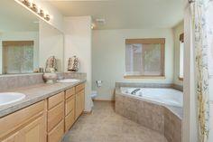 Traditional Master Bathroom with Master bathroom, Double sink, High ceiling, flush light, Ultracraft Destiny Sagamore