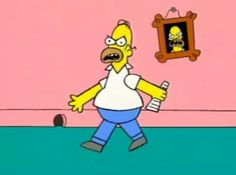 Homer Simpson As Angry Dad
