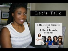 5 Rules for Success by 5 Black Female Leaders: Tamera Mowry - Be yourself Oprah Winfrey - Find your purpose Michelle Obama - Do right Maya Angelou - Take your purpose seriously Beyonce Knowles - Stay challenged Female Leaders, Tamera Mowry, Beyonce Knowles, Maya Angelou, Oprah Winfrey, Michelle Obama, Purpose, Finding Yourself, Success