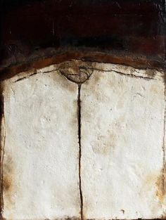 """Untitled E3""  Medium: Mixed Media on Wood by artist ~ Alain Attar  ❀ ~  ◊  photo via 'Agnes Bugera Gallery'"