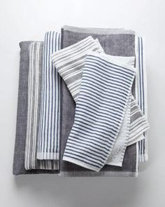 Yoshii Chambray Towels from Japan | Design Trends | Decorate | Home & Garden
