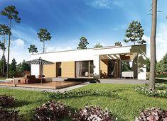 Zdjęcie projektu Murator M183f Bajeczny widok - wariant VI WAJ3784 House Plans, Pergola, Garage Doors, Mansions, House Styles, Outdoor Decor, Design, Home Decor, Houses