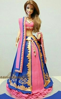 Indian Barbie Doll cake.....