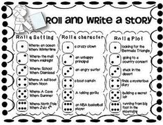 FREE - Students LOVE the roll and write activity for Work on Writing. Here is a great one to laminate and add to your writing station or workshop!