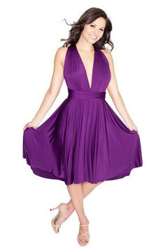Sakura Midi Convertible Dress - Plum Purple